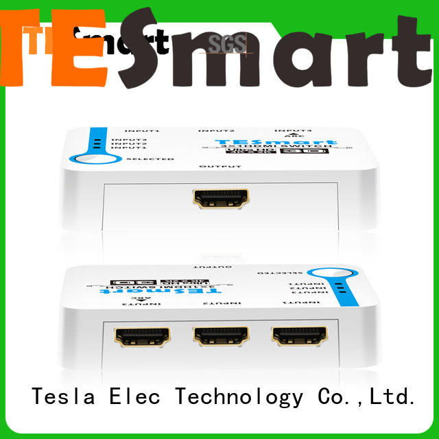hdmi switch multiple outputs supplier for DVD player Tesla Elec