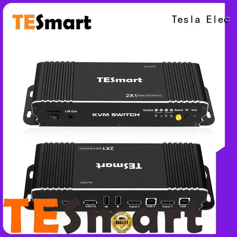 Tesla Elec 4x1 remote kvm switch supplier for computer