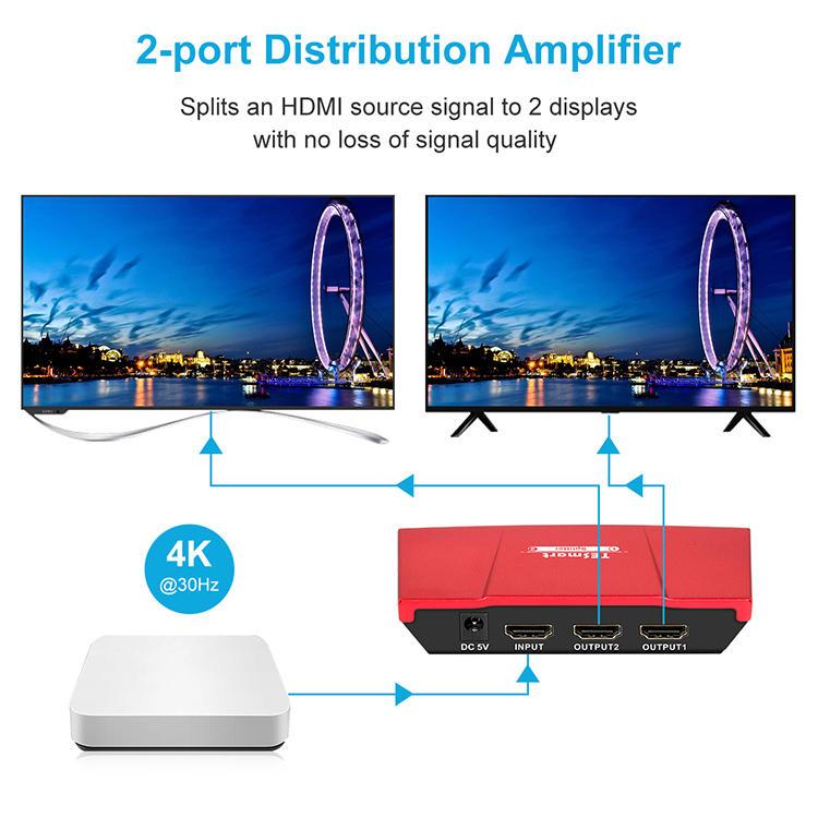 plastics hdmi splitter for dual monitors wholesale for computers