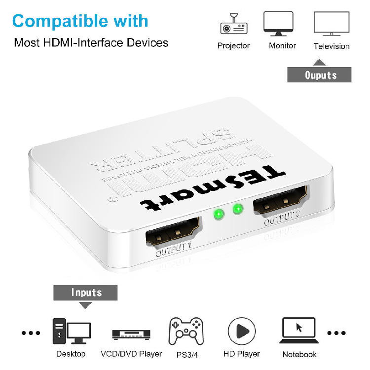 1x8 hdmi splitter 4k directly sale for media player