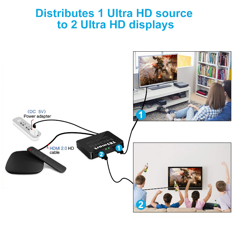 hdmi video splitter for media player Tesla Elec-5