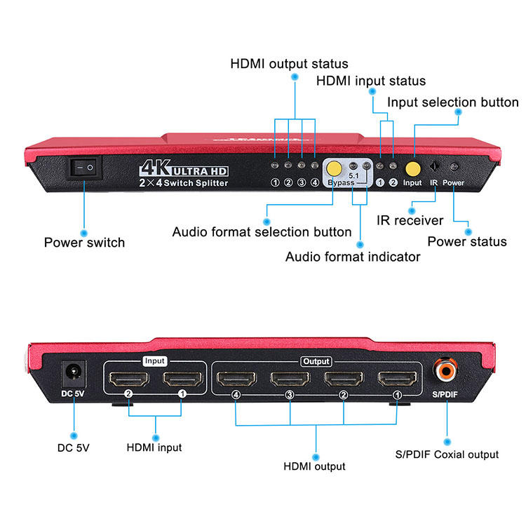 compatible hdmi switch splitter wholesale for computer