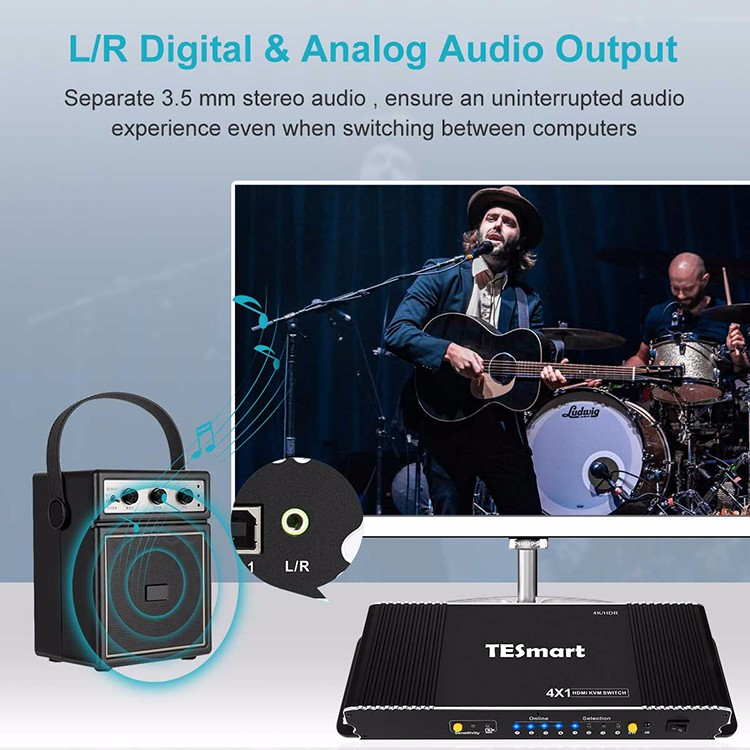 Tesla Elec 4x1 kvm switch 8 port wholesale for television-6