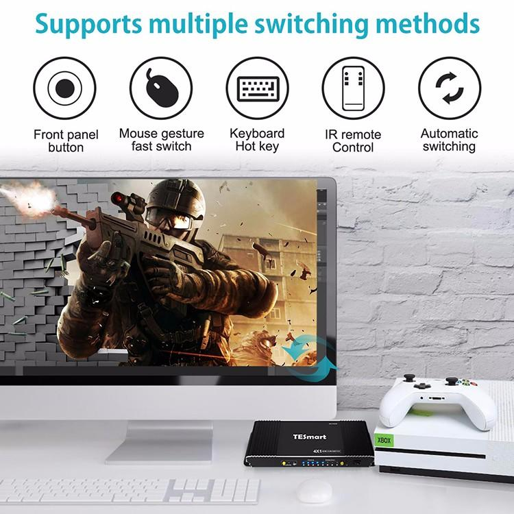 Tesla Elec 4x1 kvm switch 8 port wholesale for television
