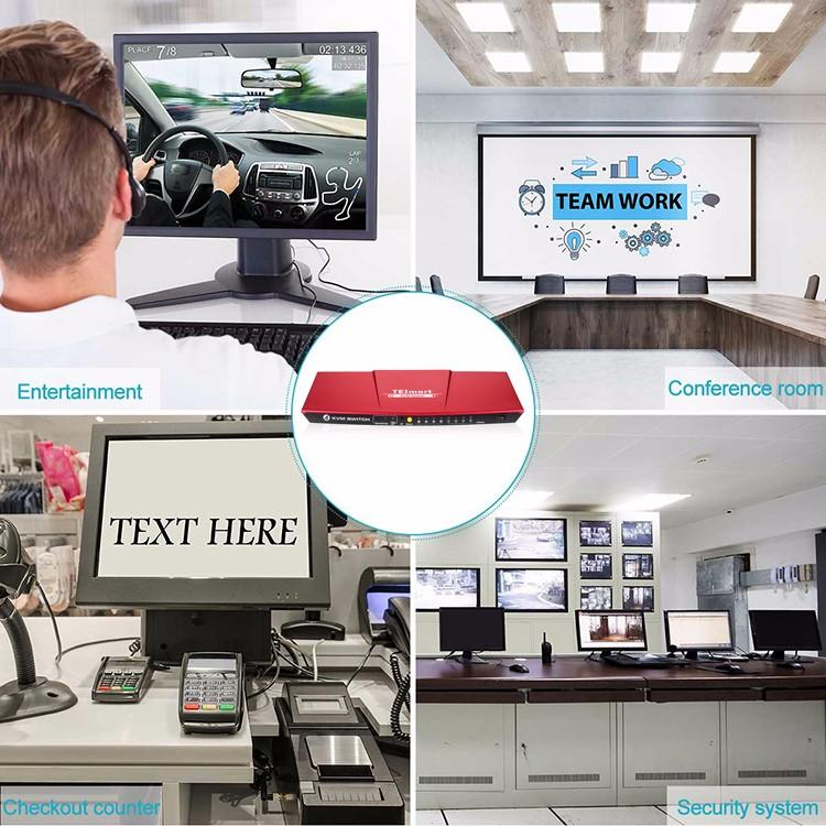 Tesla Elec aluminum alloy kvm switch hdmi dual monitor wholesale for computer