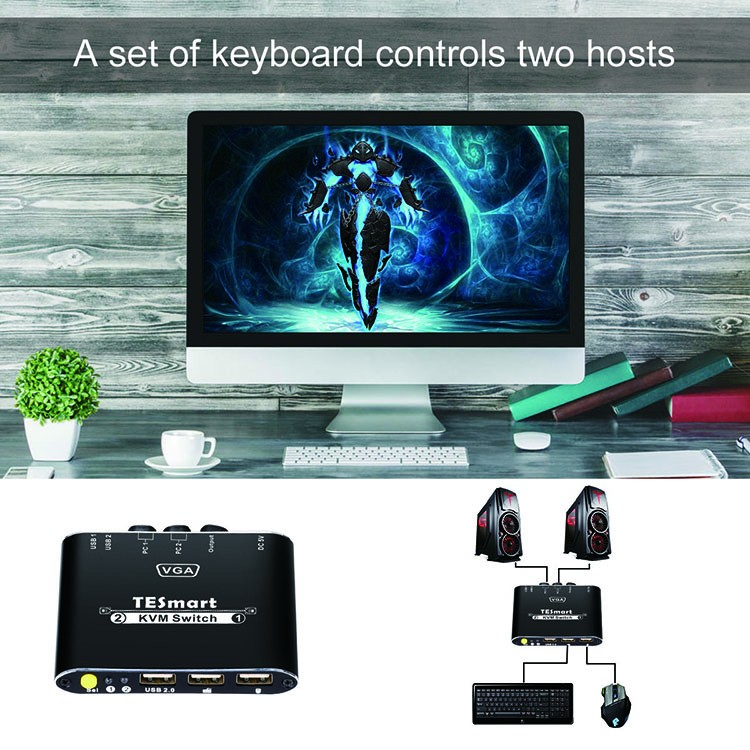 aluminum alloy best kvm switch customized for computers-6