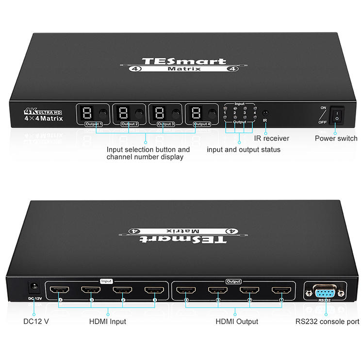 hot selling hdmi matrix 4x4 directly sale for audio