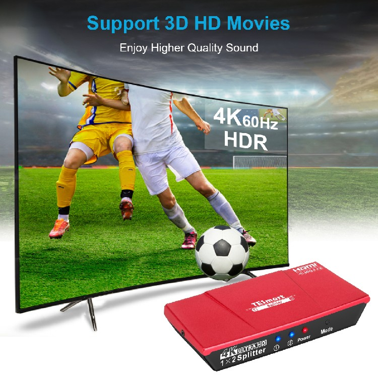 support full hd 4k hdmi splitter 1 in 2 out 1x16 customized for display device-6