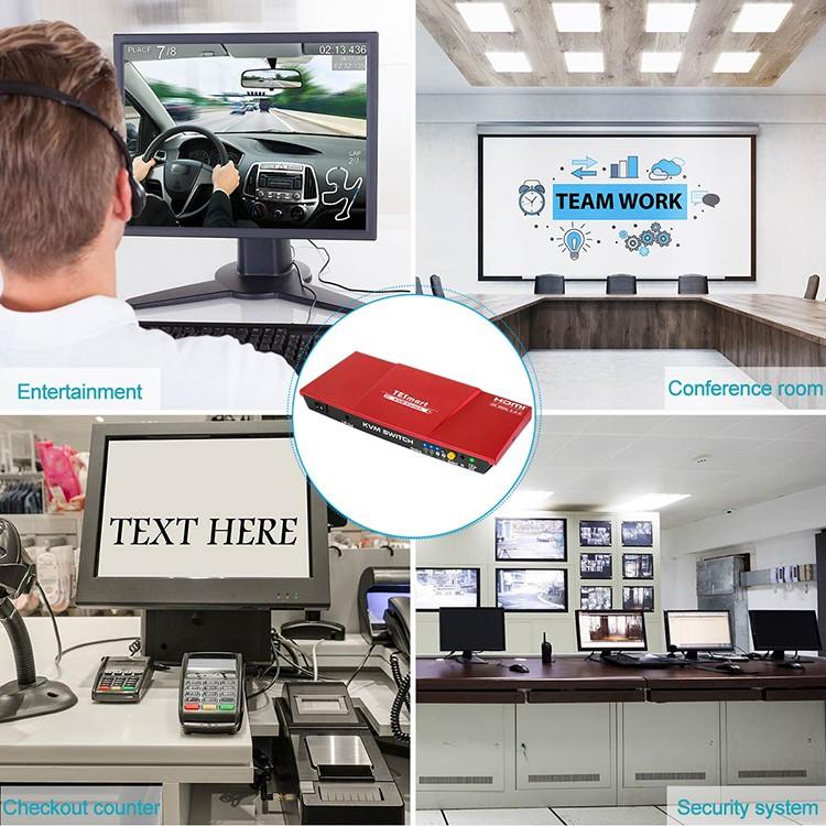 Tesla Elec kvm switch 8 port with good price for printer-4