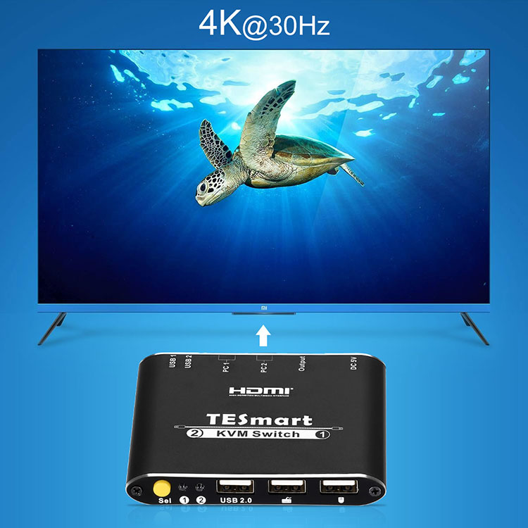 Tesla Elec high quality multi-view kvm switch for television-5