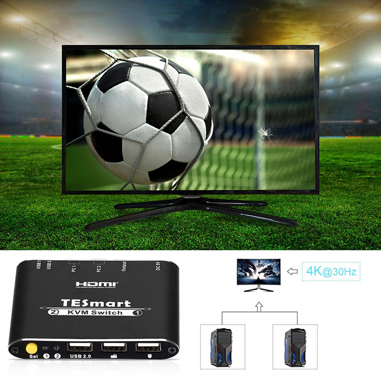 Tesla Elec high quality multi-view kvm switch for television-6