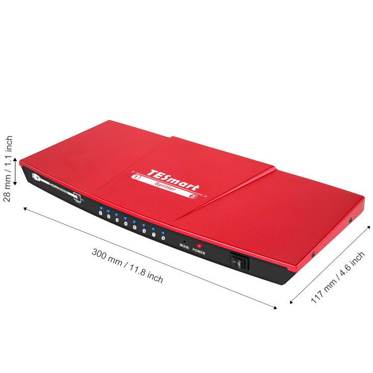 Tesla Elec custom hdmi output splitter customized for DVD player