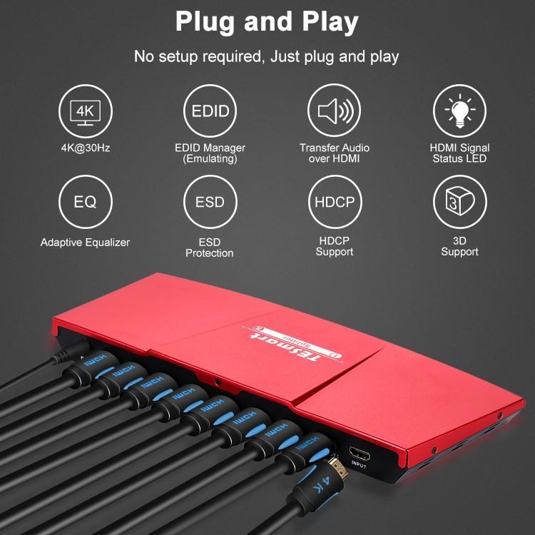 Tesla Elec hdmi splitter 4k directly sale for display device
