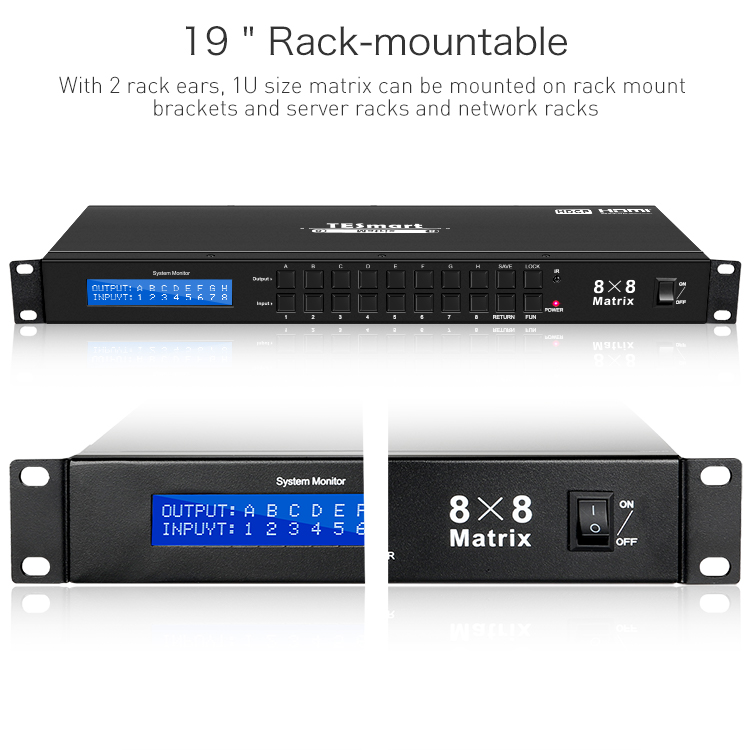support 1080p 4k hdmi matrix switcher 8x8 supplier for media player-12