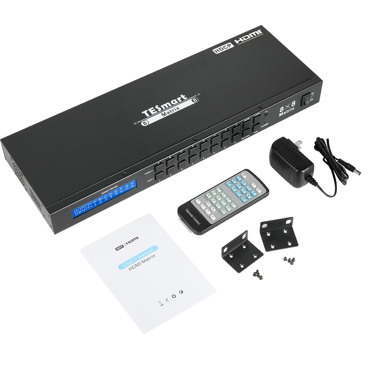 support 1080p 4k hdmi matrix switcher 8x8 supplier for media player-13