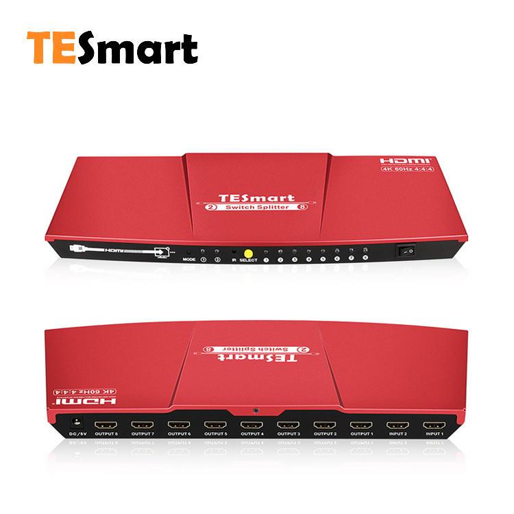 2x8 HDMI switch splitter 4K@60Hz 4:4:4
