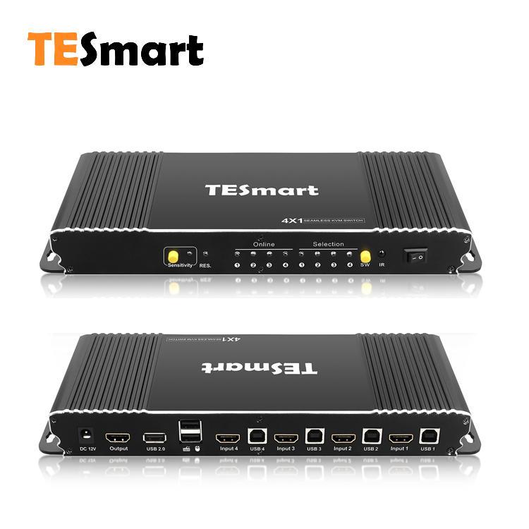 4 Ports Seamless HDMI KVM Switch w/PIP