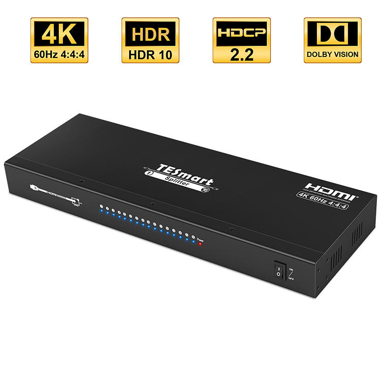 1x16 HDMI Splitter 4K@60Hz 4:4:4