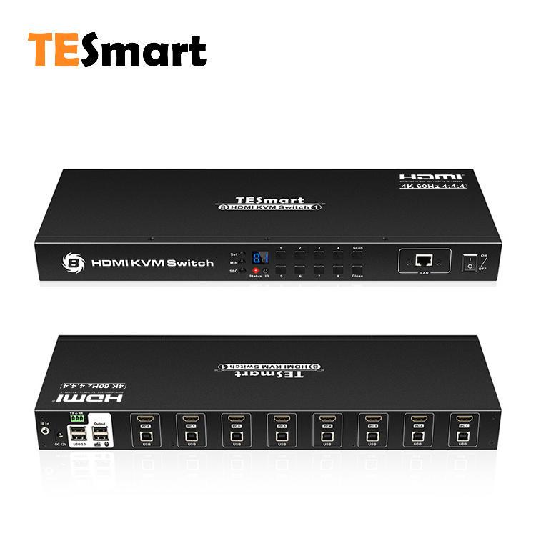 8x1 HDMI KVM Switch 4K@60Hz 4:4:4