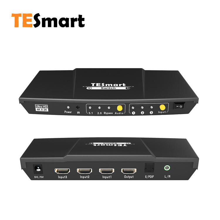 3x1 HDMI Switcher with audio out