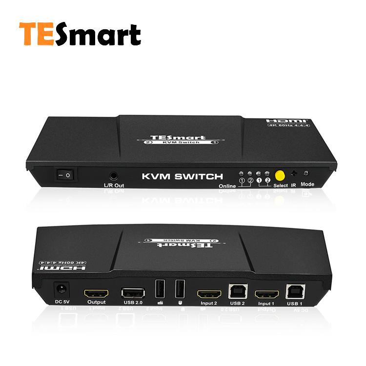 2x1 HDMI KVM Switch 4K@60Hz 4:4:4