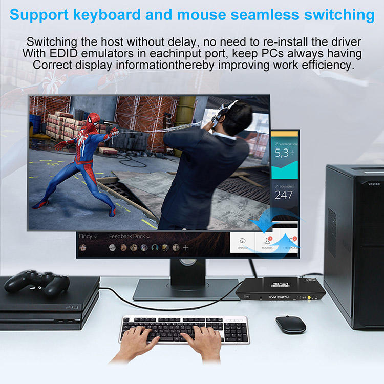 seamless kvm switch supplier for television