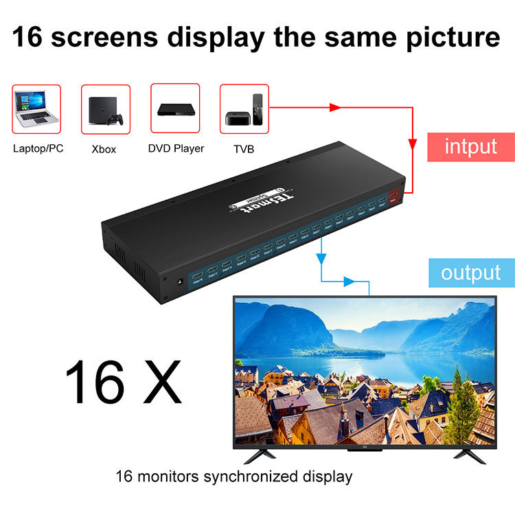 1x8 hdmi splitter 1 in 2 out customized for media player