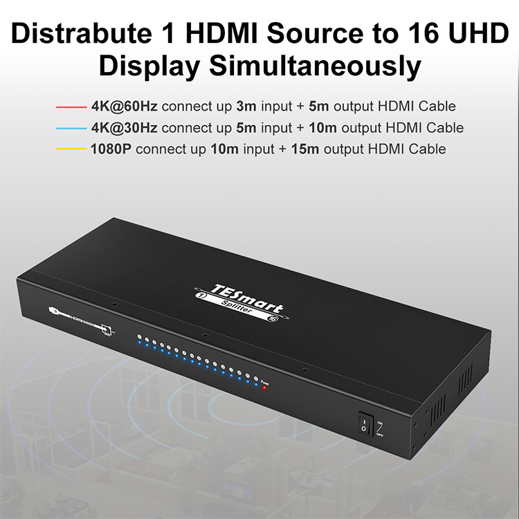 1x8 hdmi splitter 1 in 2 out customized for media player-7