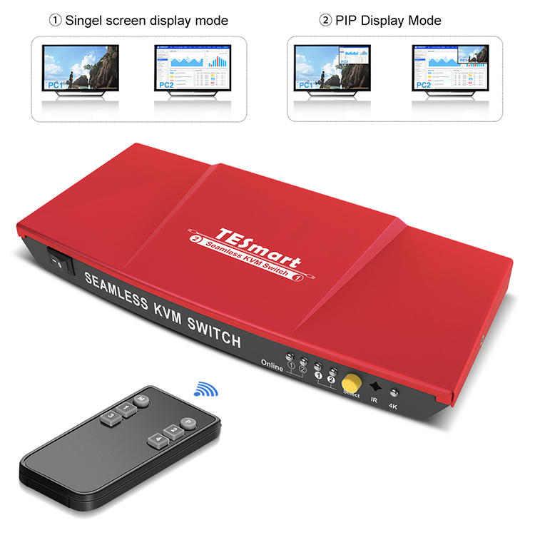2x1 Seamless HDMI KVM Switch w/ PIP