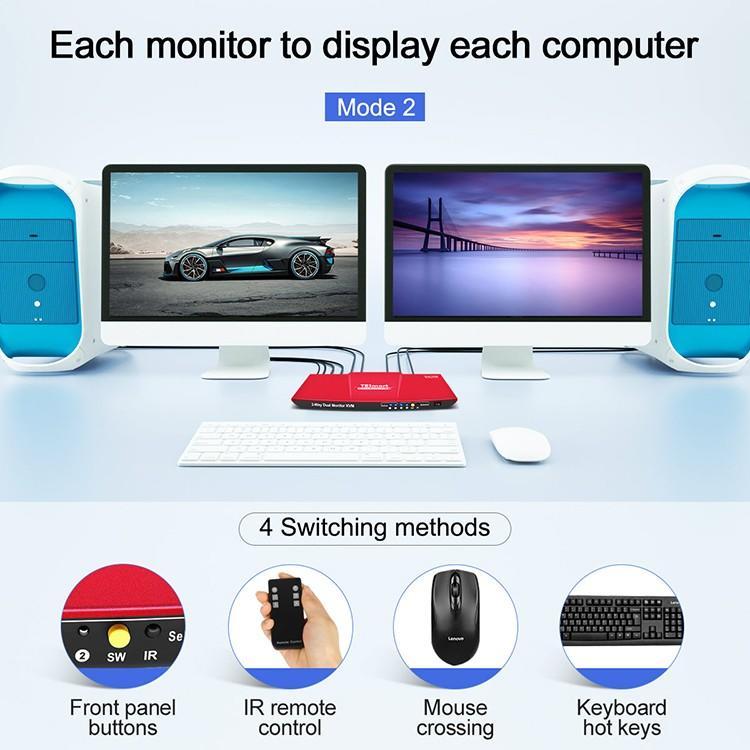 Tesla Elec high quality kvm switch directly sale for printer