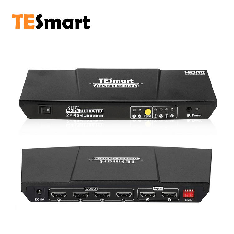 2x4 HDMI Switch Splitter