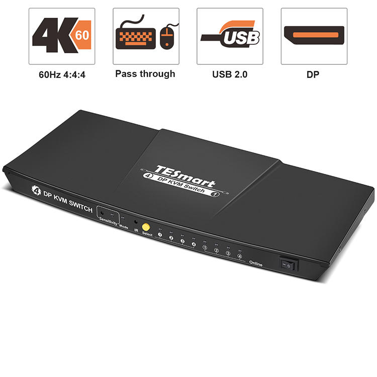 4-Port DP KVM Switch