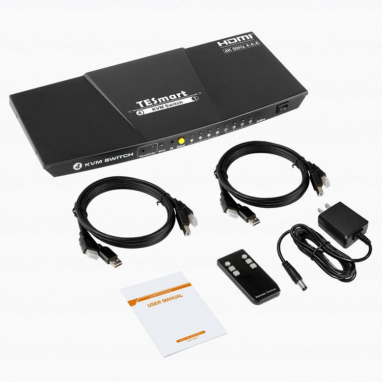 4x1 HDMI KVM Switch (Type-C) 4K@60Hz 4:4:4