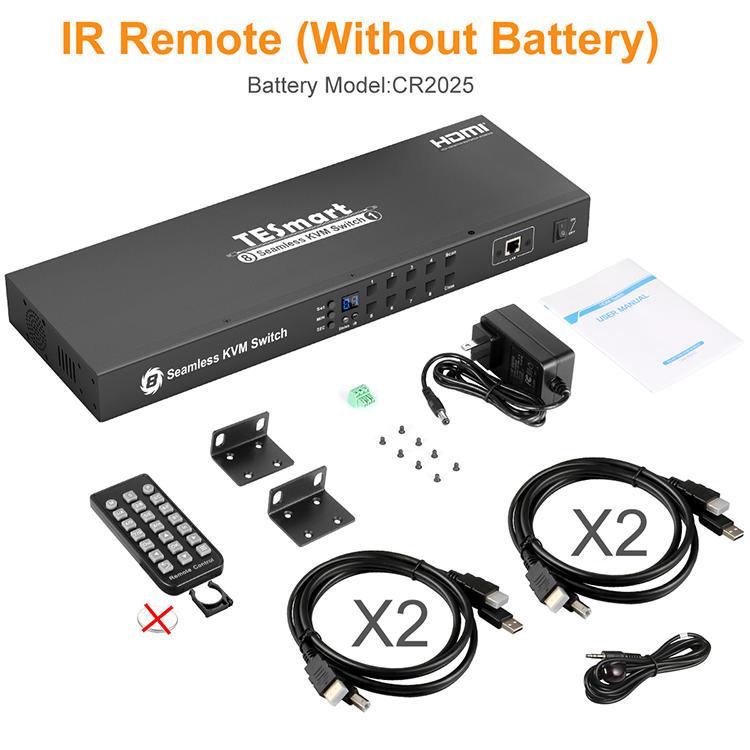 8x1 HDMI Sealmess KVM Switch