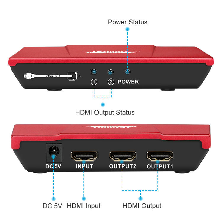 plastics hdmi splitter for dual monitors wholesale for computers-1
