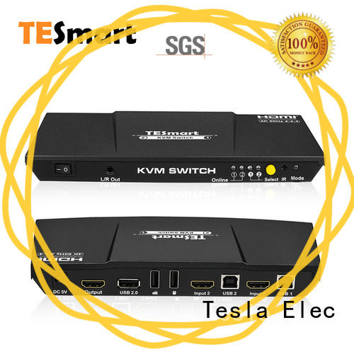 Tesla Elec latest remote kvm switch directly sale for printer