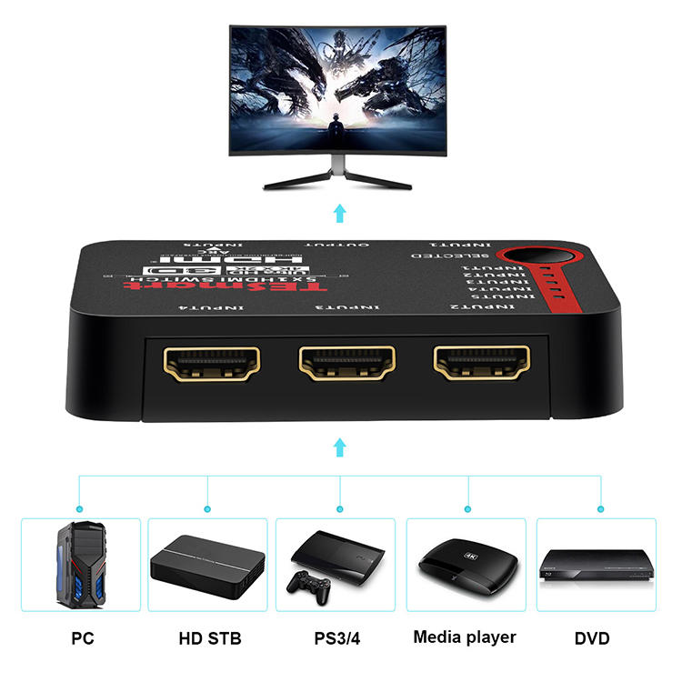 top best 4k hdmi switch customized for media player-2