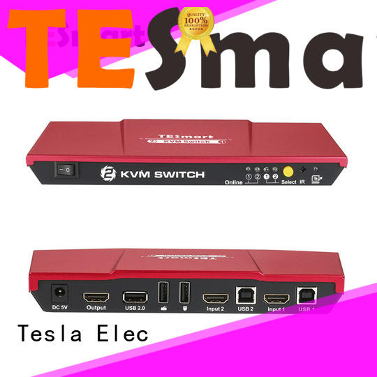 seamless kvm switch dual monitor 4port supplier for computer