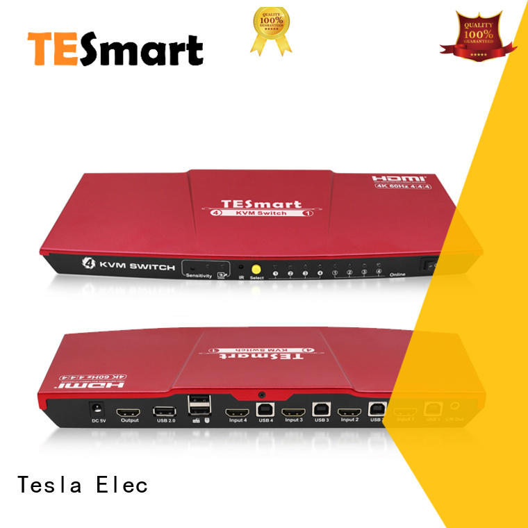 Tesla Elec high quality kvm switch 8 port supplier for checkout counter