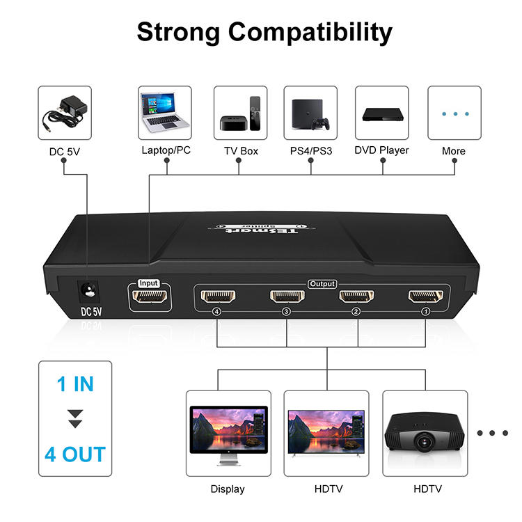Tesla Elec hdmi output splitter supplier for computers-2