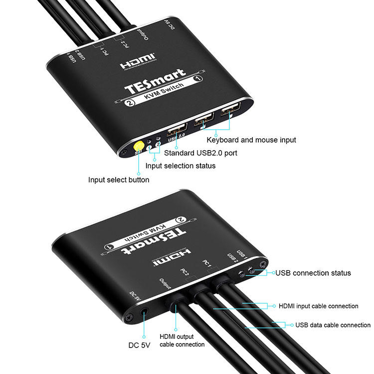 Tesla Elec high quality multi-view kvm switch for television-1