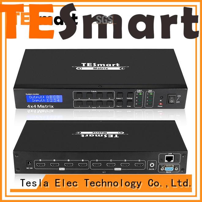 Tesla Elec high quality hdmi matrix 2x4 directly sale for audio