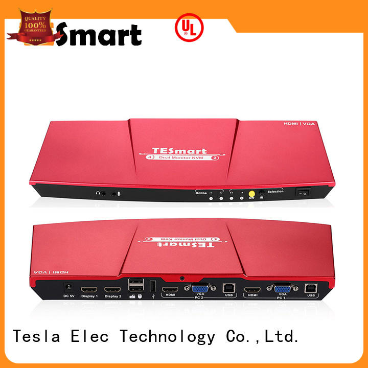 Tesla Elec reliable best kvm switch directly sale for media player