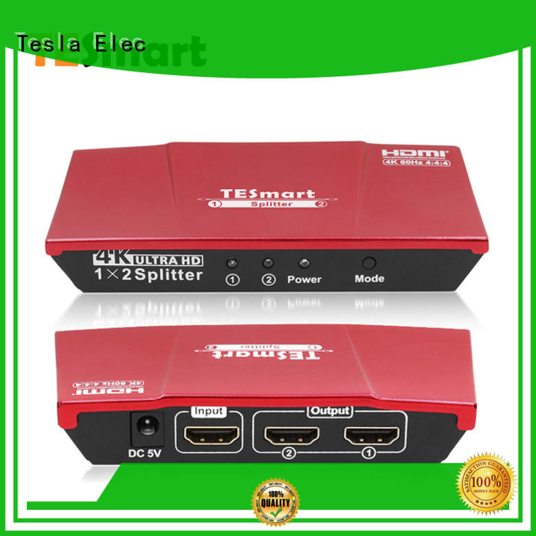 Tesla Elec aluminum alloy hdmi splitter for dual monitors wholesale for computers