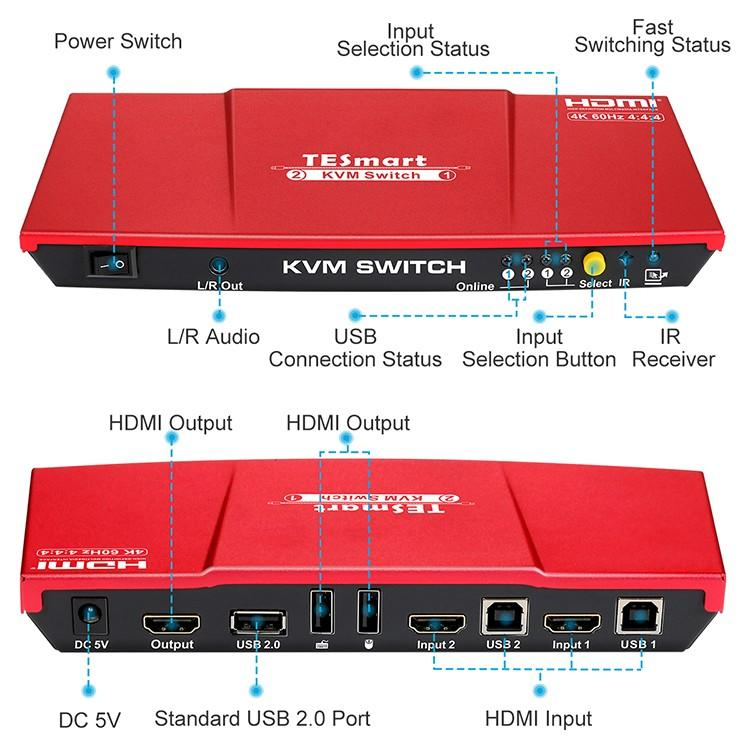 Tesla Elec kvm switch 8 port with good price for printer-1