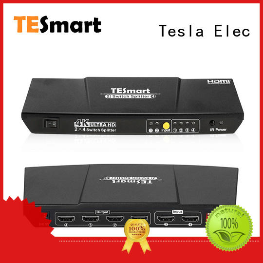 Tesla Elec compatible hdmi cable splitter directly sale for display devices