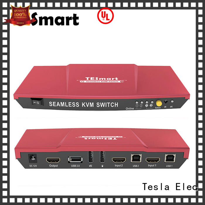 Tesla Elec high-quality hdmi usb kvm extender directly sale for conference room