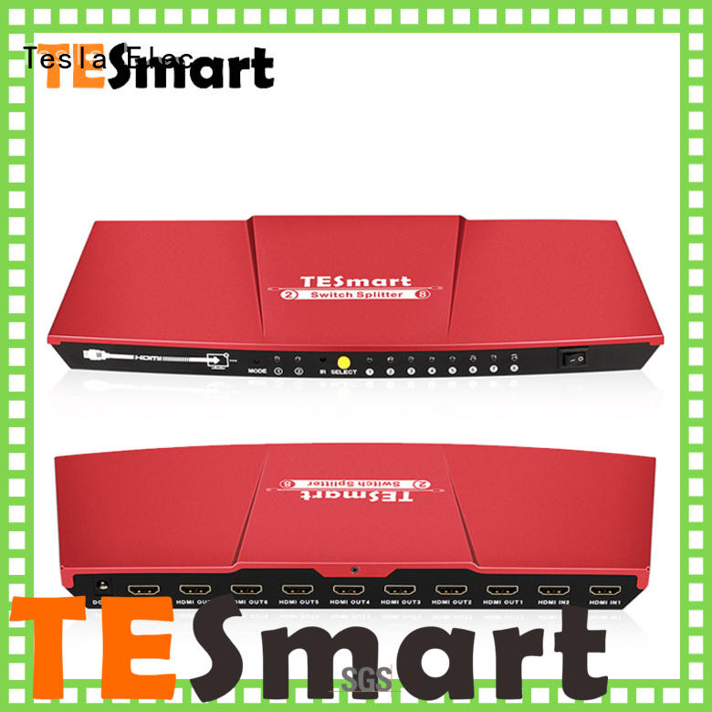 Tesla Elec aluminum alloy hdmi switch splitter with good price for media player