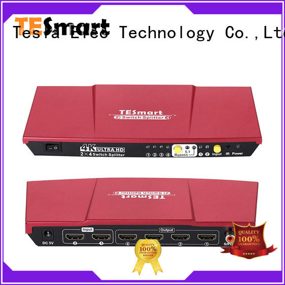 Tesla Elec hot selling 2 way hdmi splitter wholesale for display devices