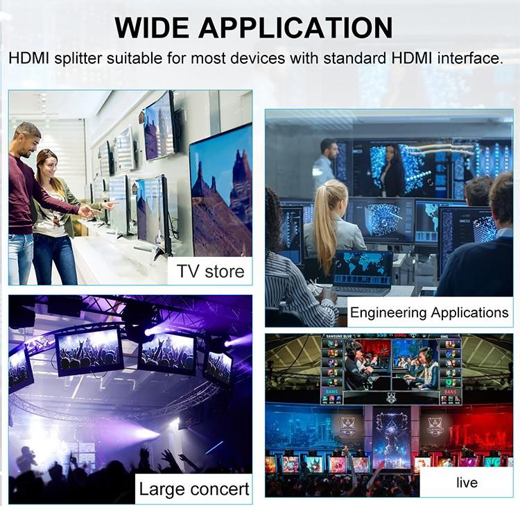 1x8 hdmi splitter 1 in 2 out customized for media player-3